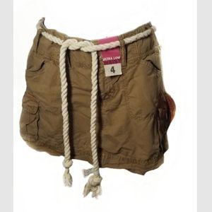 Old Navy khaki cargo mini skirt
